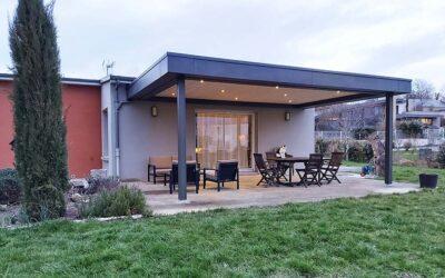 Une extension de maison de plain-pied